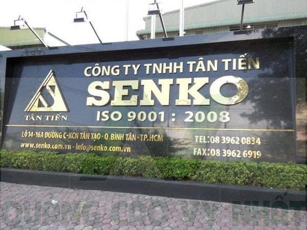 bảng hiệu công ty chữ inox