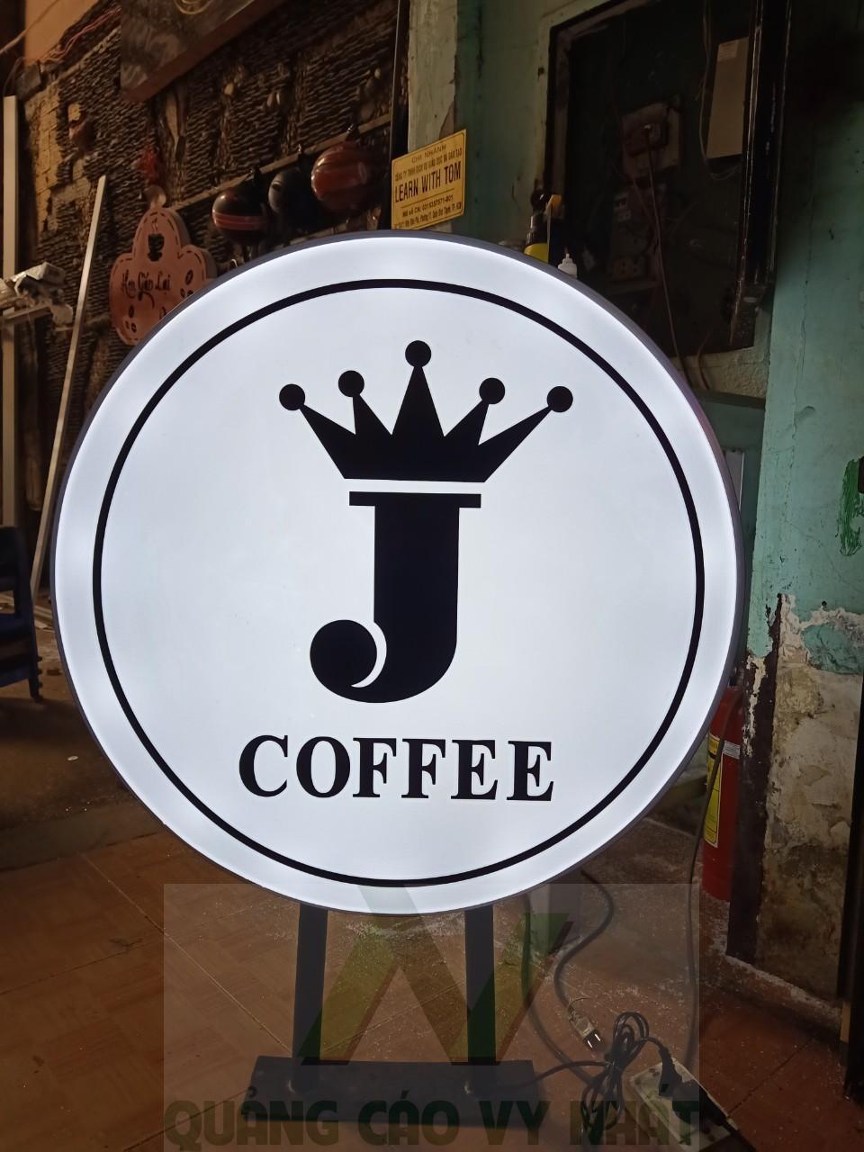 hộp đèn hút nổi coffee