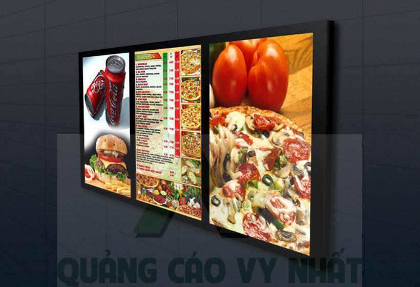 Hộp đèn siêu mỏng menu