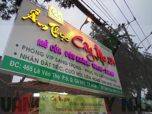 Bảng hiệu nhà hàng Gò Vấp