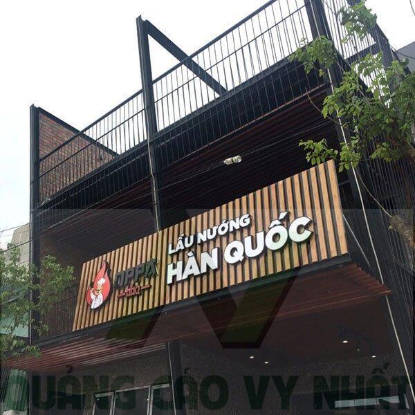 Bảng hiệu Nhà hàng Hàn Quốc